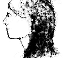 Female head -(210313)- Digital artwork/Program: The Scribbler by paulramnora