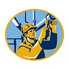 Pipefitter Maintenance Gas Worker Plumber by retrovectors