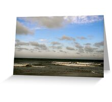 Light Sky, Dark Ocean Greeting Card