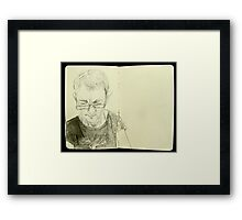 portrait with tree t Framed Print