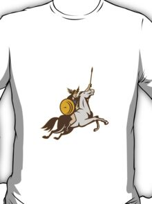 Valkyrie Riding Horse Retro T-Shirt