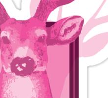 The Pink Deer Head Graphic Sticker