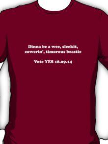 Timorous Beastie Scottish Independence T-Shirt T-Shirt