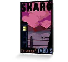SKARO QUICKER BY TARDIS Greeting Card