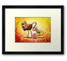 Ambitious Easter Bunny Framed Print