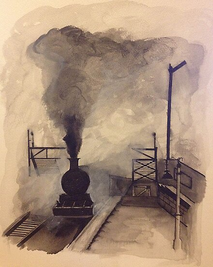 Steam Train by SerendipityArt