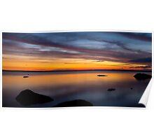 Sunset at Tin Hut Lake Poster