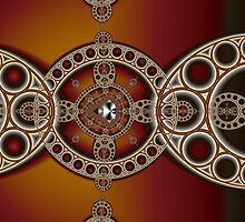 Mandelbrot and Steiner Chains by Mark Eggleston
