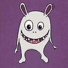 Funny Cracked Teeth Happy Monster Case by Boriana Giormova