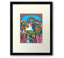 Jumping the Broom Framed Print