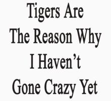 Tigers Are The Reason Why I Haven't Gone Crazy Yet by supernova23