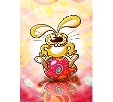 Proud Easter Bunny Photographic Print