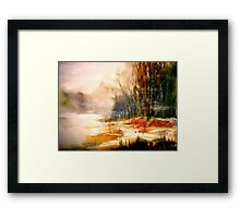The First Warmth.. Framed Print