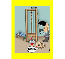Funny ROFL cartoon greetings card. Photographic Print