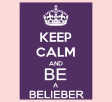keep calm and be a belieber  by K3LLIE3