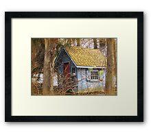 Gingerbread tool shed Framed Print