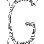 The letter G by handandi
