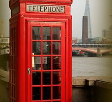 London Phone Box versus the Shard by karina5