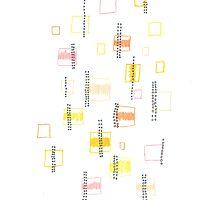 Boxes & circles- Yellow, orange, pink by handandi