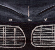 Black Volvo Cats Sticker