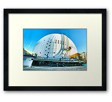 Bubble on the bubble Framed Print
