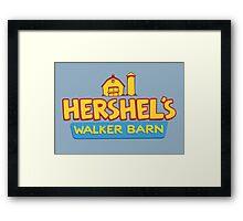 Hershel's Walker Barn Framed Print