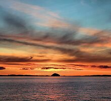 Sunrise over Ailsa Craig  by Derick Gray