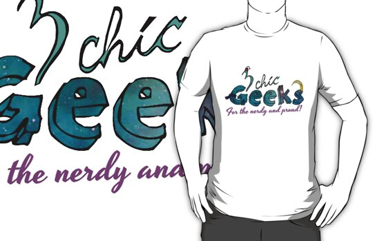 3 Chic Geeks Official Logo Tee by scarletprophesy