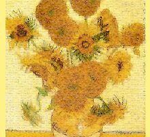 Mosaic of Glass Sunflowers by Glenn Launerts