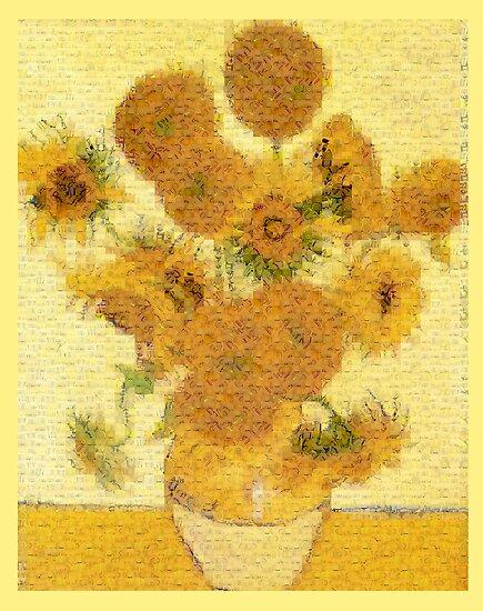 Mosaic of Glass Sunflowers by Glenn Launerts