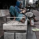 aotea square at lunch by dennis william gaylor