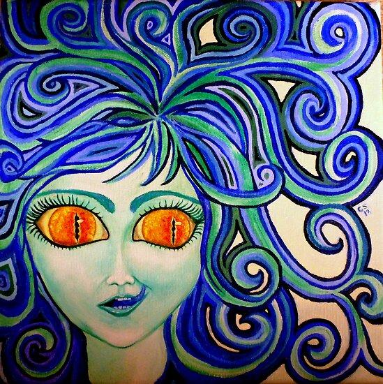 Blue Tongued Lizzie by Carol Stocki