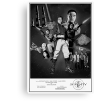 Serenity: The Alliance Strikes Back (black and white version) Canvas Print