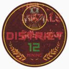 District 12 Round sticker, darker by wiccked