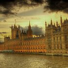 HDR of the Houses of Parliament, London by CharlotteMorse