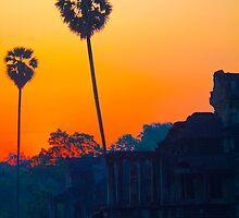 Cambodia. Angkor Wat. A Loner at Sunrise. by vadim19