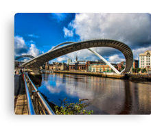 Millenium Bridge Opening Canvas Print