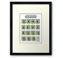 Long Distance Relationships poster - Successful Framed Print