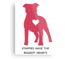 Staffies have the biggest hearts Metal Print