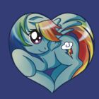 Rainbow Dash is my heart by Amelie  Belcher