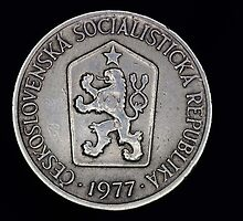 czechoslovak coin by lucifuk