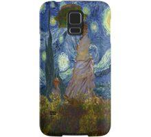 Monet Umbrella on a Starry Night Samsung Galaxy Case/Skin