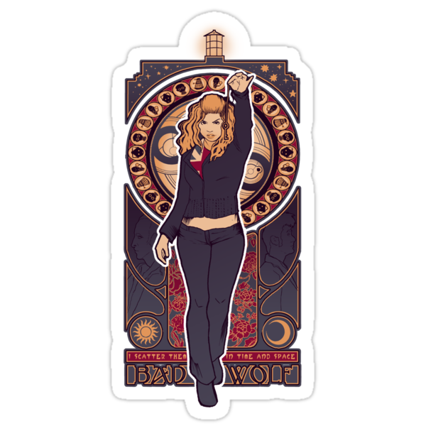Bad Wolf - STICKER by MeganLara