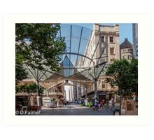 Rundle Mall - The Real centre of the Mall Art Print