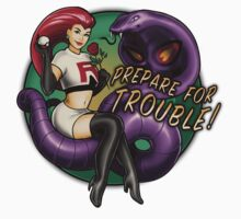 Prepare for TROUBLE! - STICKER by MeganLara