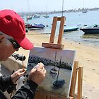 Painting today on Balboa Island by Randy Sprout