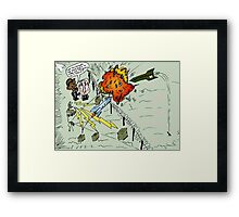 Barack and Bibi review the rocket-repelling Iron Dome Framed Print