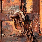 Rusted Chain and Door by jojobob