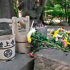 Cemetery Water Buckets at Zojo-Ji by jojobob