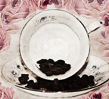 Roses and Coffee by Denise Abé